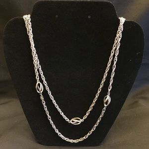 """Jewelry - Vintage 27"""" Silver Tone Linked Chain Necklace"""